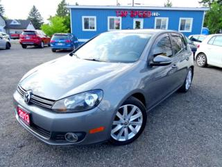 Used 2013 Volkswagen Golf Highline TDI DSG Navigation Leather Sunroof Bluetooth Certified for sale in Guelph, ON