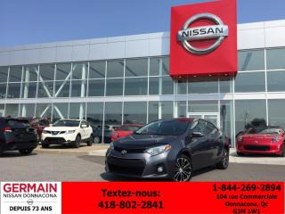 Used 2014 Toyota Corolla S - CAMÉRA DE RECUL - CRUISE - TOIT OUVRANT - for sale in Donnacona, QC