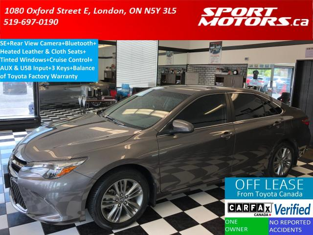 2017 Toyota Camry SE+Camera+Bluetooth+Heated Seats+Tinted