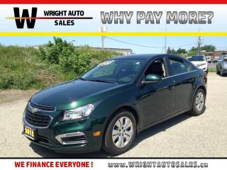 Used 2015 Chevrolet Cruze 1LT|BACKUP CAMERA|KEYLESS ENTRY|61,848 KMs for sale in Cambridge, ON