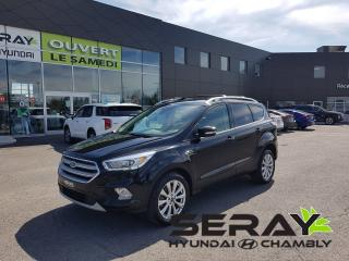Used 2017 Ford Escape Titanium, mags, toit pano, gps, for sale in Chambly, QC