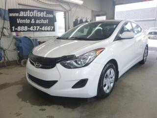 Used 2013 Hyundai Elantra L  6 VIT.    $28.80/sem+ taxes  PRISE USB AUX 12V. for sale in St-Raymond, QC