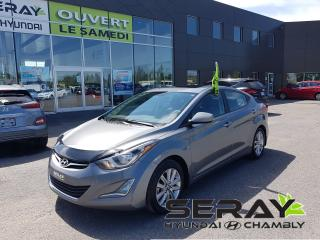 Used 2016 Hyundai Elantra wow 27935km !! mags, toit, a/c, camera, for sale in Chambly, QC