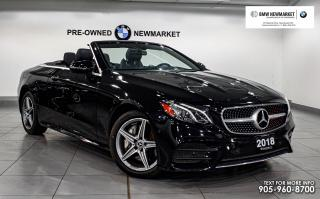 Used 2018 Mercedes-Benz E-Class E400 4MATIC Sedan -NO ACCIDENTS|PREM PKG| NAV | LOW KMS | for sale in Newmarket, ON