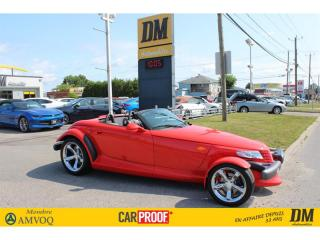 Used 1999 Plymouth Prowler ROADSTER  CUIR  ***9,000 KM***   A/C   MAGS 20'' for sale in Salaberry-de-Valleyfield, QC