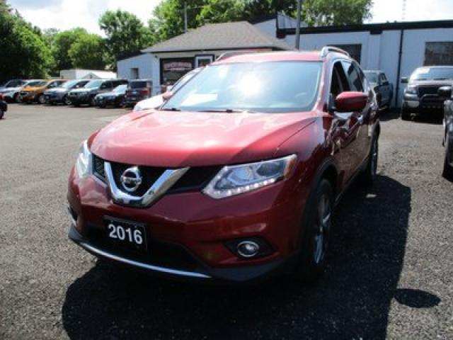 2016 Nissan Rogue ALL-WHEEL DRIVE SL MODEL 5 PASSENGER 2.5L - 4 CYL.. LEATHER.. POWER SUNROOF.. AUX/USB.. NAVIGATION.. BLUETOOTH..