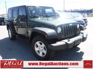Used 2008 Jeep Wrangler Unlimited X 4D Utility 4WD for sale in Calgary, AB