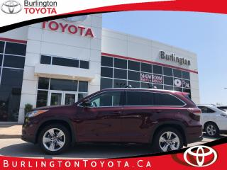 Used 2016 Toyota Highlander LIMITED LOW KM'S for sale in Burlington, ON
