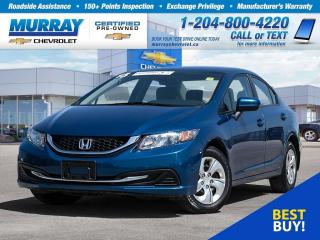 Used 2015 Honda Civic LX *Bluetooth, ABS Breaks, Keyless Entry* for sale in Winnipeg, MB