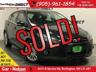Used 2012 Ford Focus Titanium| LOCAL TRADE| LEATHER| SUNROOF| for sale in Burlington, ON