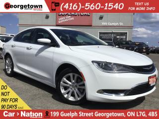 Used 2016 Chrysler 200 Limited  HTD SEATS/WHEEL  BACK UP CAM for sale in Georgetown, ON
