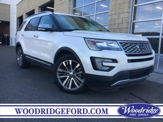 Used 2016 Ford Explorer Platinum ***PRICE REDUCED*** ECOBOOST, NAVIGATION, SUNROOF, HEADREST DVD, 2ND ROW CAPTAINS, NO ACCIDENTS. for sale in Calgary, AB