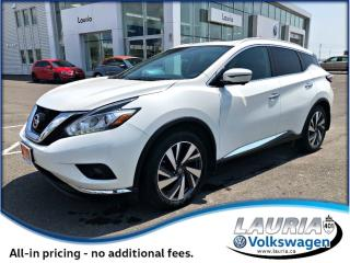 Used 2016 Nissan Murano Platinum AWD - Loaded! for sale in PORT HOPE, ON