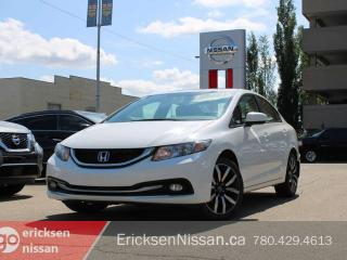 Used 2015 Honda Civic Sedan TOURING l Leather l Sunroof l Nav for sale in Edmonton, AB