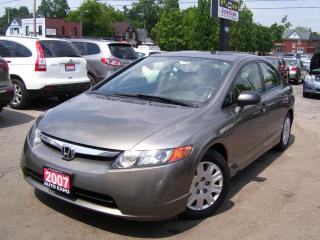 Used 2007 Honda Civic DX-G,ONE OWNER,AUTO,A/C,CERTIFIED,LOW KM'S for sale in Kitchener, ON