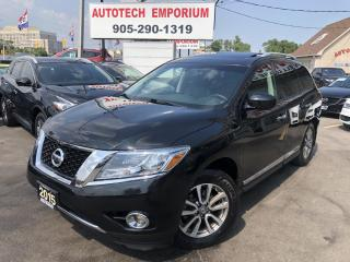Used 2015 Nissan Pathfinder SL 7-Passengers AWD/NAVIGATION/CAM/LEATHER/SUNROOF for sale in Mississauga, ON