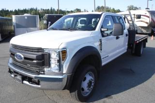 Used 2018 Ford F-550 XL Crew Cab 11 Foot Flatdeck 4WD Diesel for sale in Burnaby, BC