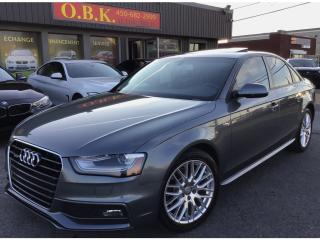 Used 2016 Audi A4 Komfort plus quattro-MANUELLE 6 VITS-TOIT OUVRANT for sale in Laval, QC