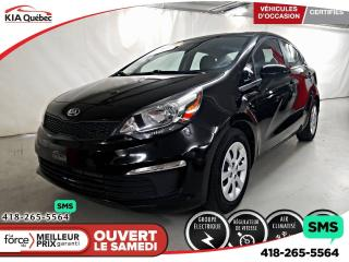 Used 2016 Kia Rio LX+* A/C* SIEGES CHAUFFANTS* BLUETOOTH* for sale in Québec, QC
