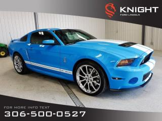 Used 2010 Ford Mustang Shelby GT500, Supercharged, One owner, must see, grabber blue! for sale in Moose Jaw, SK