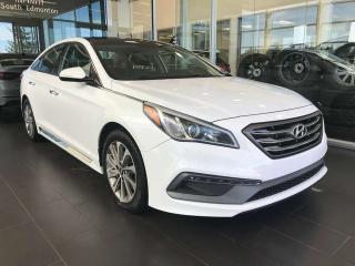 Used 2015 Hyundai Sonata 2.4L Sport, POWER HEATED LEATHER SEATS, SKYROOF, KEYLESS IGNITION for sale in Edmonton, AB