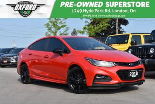 Used 2018 Chevrolet Cruze LT Auto - One Owner, FWD, Bluetooth for sale in London, ON
