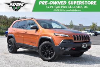 Used 2016 Jeep Cherokee Trailhawk - Well Maintained, Cold Weather Package for sale in London, ON