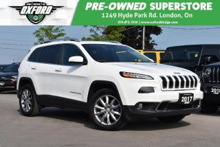 Used 2017 Jeep Cherokee Limited - Low Kms, One Owner for sale in London, ON
