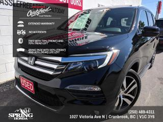 Used 2016 Honda Pilot Touring EXTENDED WARRANTY, NO ACCIDENTS, ONE OWNER, WELL MAINTAINED - $240 BI-WEEKLY - $0 DOWN for sale in Cranbrook, BC