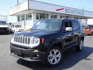 Used 2018 Jeep Renegade Limited with My Sky Roof System, Only 10419 Kms for sale in Vancouver, BC