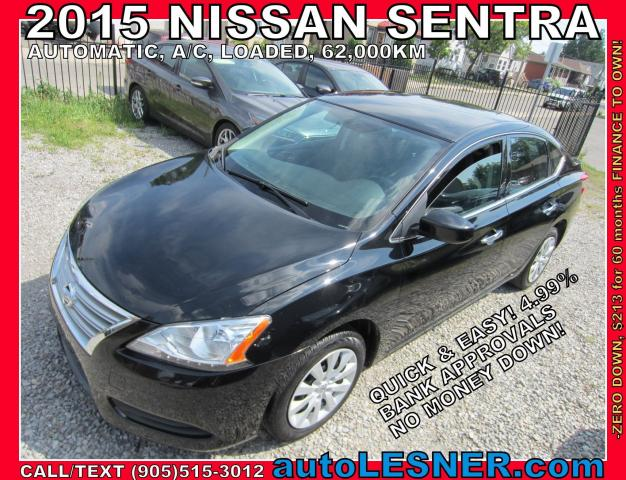 2015 Nissan Sentra -ZERO DOWN, $213 for 60 months FINANCE TO OWN!