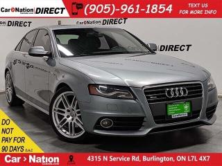 Used 2011 Audi A4 2.0T Premium quattro| S-LINE| SUNROOF| AS-TRADED for sale in Burlington, ON