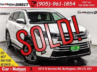 Used 2017 Toyota Highlander Limited| AWD| LEATHER| PANO ROOF| NAVI| for sale in Burlington, ON