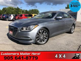 Used 2015 Hyundai Genesis Sedan TECHNOLOGY  AWD TECH ADAP-CC LD HUD CS PWR-TRUNK NAV ROOF for sale in St. Catharines, ON