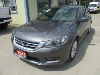 Used 2015 Honda Accord LOADED EX-L MODEL 5 PASSENGER 2.4L - DOHC.. LEATHER.. HEATED SEATS.. POWER SUNROOF.. BACK-UP CAMERA.. BLIND-SPOT CAMERA.. for sale in Bradford, ON
