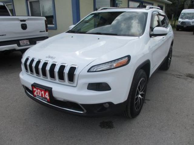 2014 Jeep Cherokee LOADED LIMITED EDITION 5 PASSENGER 3.2L - V6.. 4X4.. NAVIGATION.. LEATHER.. HEATED SEATS.. PANORAMIC SUNROOF.. BACK-UP CAMERA..