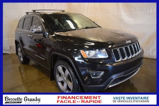 Used 2015 Jeep Grand Cherokee Limited +Toit, Navi, Aucun Carfax+ for sale in Cowansville, QC