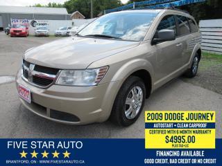 Used 2009 Dodge Journey SE *Clean Carproof* Certified w/ 6 Month Warranty for sale in Brantford, ON
