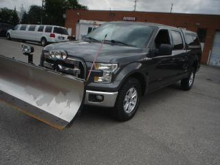 Used 2016 Ford F-150 XLT,4x4,5.0 liter,with snow plow for sale in Mississauga, ON