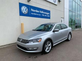 Used 2015 Volkswagen Passat 1.8 TSI HIGHLINE - VW CERTIFIED / LEATHER / SUNROOF for sale in Edmonton, AB