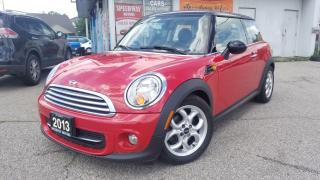 Used 2013 MINI Cooper Auto, Panoramic Roof, Certified for sale in Mississauga, ON