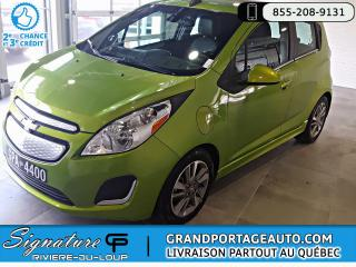 Used 2016 Chevrolet Spark EV 2LT *FAST CHARGE* *RABAIS GOUV. INCLUS* for sale in Rivière-Du-Loup, QC