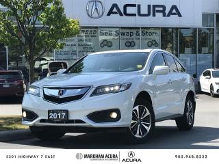 Used 2017 Acura RDX Elite at Cool Sts, Prk, Snsrs, Nav, Pwr Lift, Rmt Strt for sale in Markham, ON