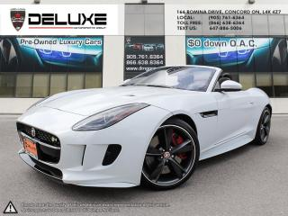 Used 2017 Jaguar F-Type Jaguar F-Type R- Engine: 5.0L AWD Cabriolet V8 Supercharged (550 HP) $0 Down OAC for sale in Concord, ON