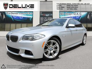 Used 2013 BMW 528 i xDrive BMW 528XI- 2.0-liter AWD M-sport Silver on black   TwinPower Turbo inline Navigation $0 Down OAC for sale in Concord, ON