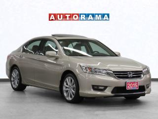Used 2015 Honda Accord V6 Touring Navigation Leather Sunroof Backup Cam for sale in Toronto, ON