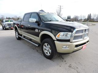 Used 2015 RAM 2500 Longhorn. Diesel. 4X4. Leather. Navigation for sale in Gorrie, ON