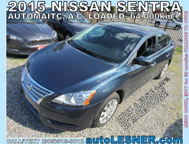 2015 Nissan Sentra -ZERO DOWN, $207 for 60 months FINANCE TO OWN!