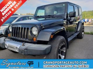 Used 2008 Jeep Wrangler 4X4* 4 portes* Unlimited Sahara PAS D AC for sale in Rivière-Du-Loup, QC