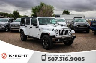 Used 2017 Jeep Wrangler Unlimited 75th Anniversary - Remote Start, NAV, Sunroof for sale in Medicine Hat, AB